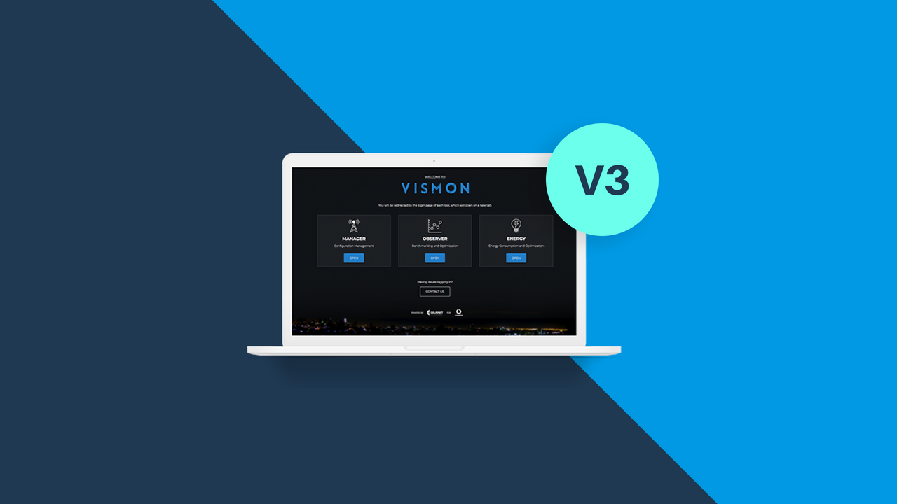 VISMON V3: Enhanced usability and radio network management capabilities