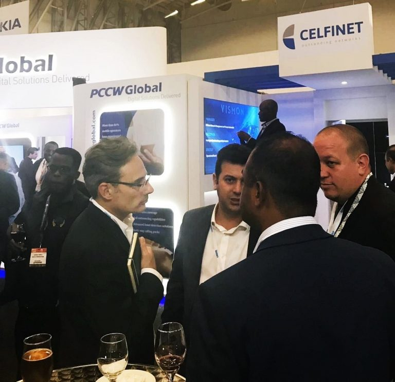 CELFINET exhibits VISMON at AfricaCom 2018 in Cape Town